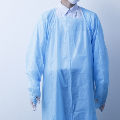 感染症対策品(不織布マスク、使い捨てガウン、ヘアキャップ、PVC 手袋)